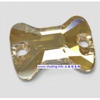 新款平底领结形双孔扣 手缝钻 平底玻璃钻,国内A货3258#