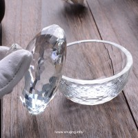厂家加工定制创意家装水晶工艺品异形欧式磨削切面几何水晶碗